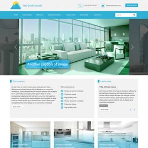 bluehome html template design