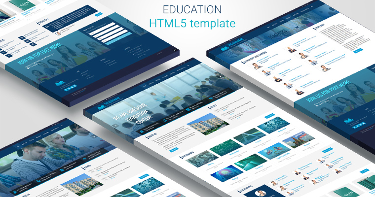 Education html template – Bootstrap html | Semantic html web site ...
