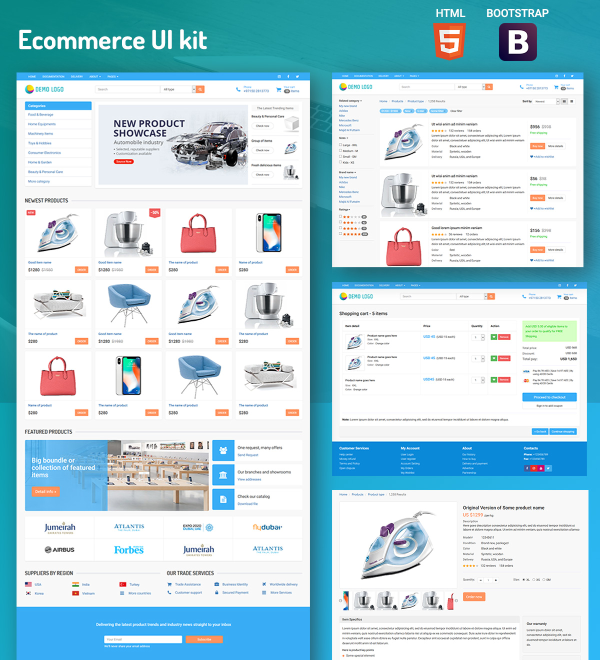 Ecommerce UIkit – Collection of cards and blocks – 2018 | Semantic ...