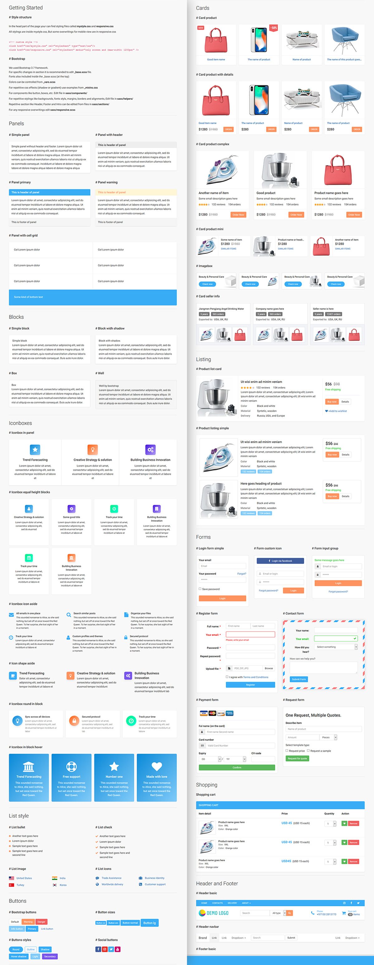 Ecommerce UIkit – Collection of cards and blocks – 2018   Semantic ...