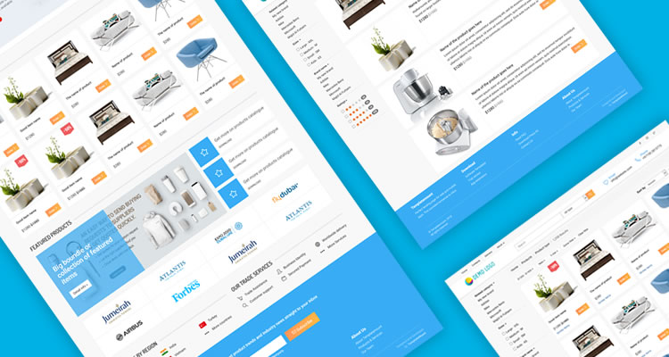 Ecommerce template basic pages | Semantic html web site templates